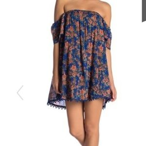 O'Neill XL Dara Blue floral dress